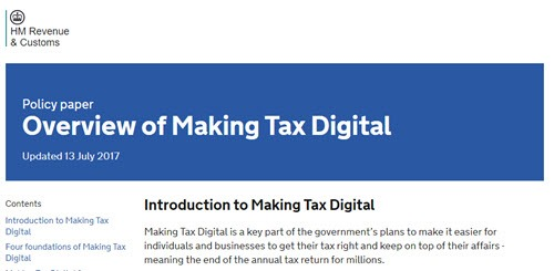 HMRC Overview of Making Tax Digital