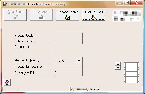 Original Delphi Dynamics GP Thermal label software
