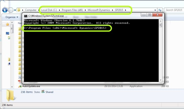 how to open a folder location in cmd