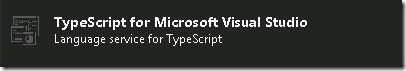 Typescript for Microsoft Visual Studio