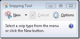 Snipping of the Windows Snipping Tool user interface