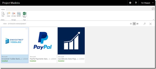 Plug in window showing paypal, quickbooks data migration